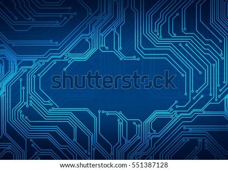 digital conceptual image circuit microchip onのイラスト素材