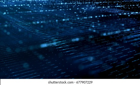 Digital cyber space particles for head up display and User Interface background element