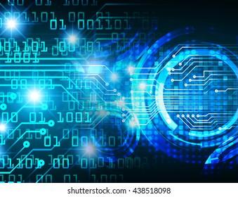 digital data background,blue abstract light hi tech pixel internet technology, Cyber security concept, Cyber data digital computer. eye scan virus
