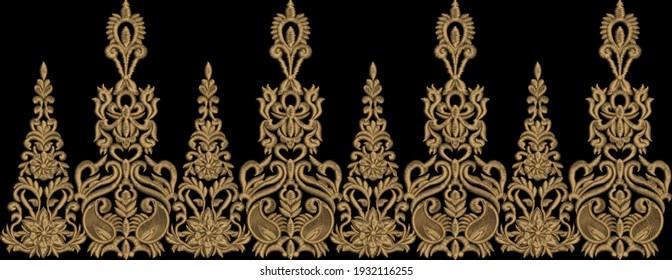 Digitales Design für handbemalte Textilinformationen