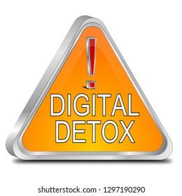 Digital Detox Button - 3D illustration