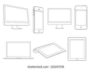 Digital devices.Raster version
