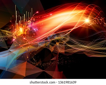 Digital Dreams series. Backdrop design of technology background with virtual visualization components  for works on science, education, computers and modern technology