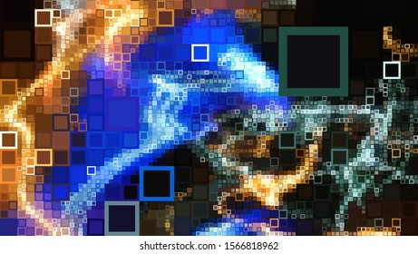 Digital effects. Vibrant abstract background. Colorful pattern. Geometric texture. Festive decoration.
