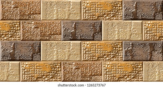 Digital elevation wall tiles design