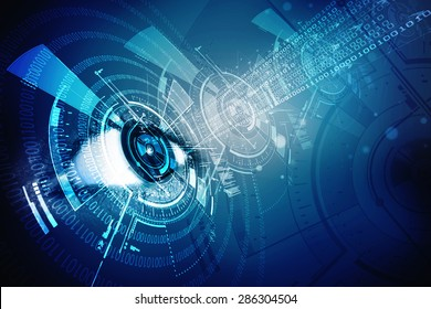 digital eye with security scanning concept