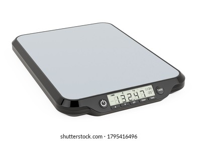 Digital Food Kitchen Scale, 3D rendering isolated on white background