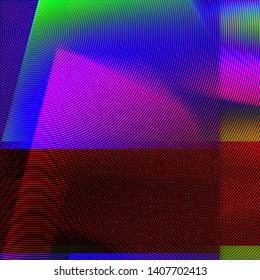 Digital glitch effect. XXL vibrant background.