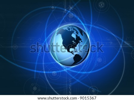 digital globe moving line stock illustration 9015367 shutterstock