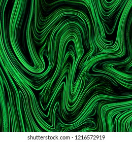 Digital green abstract background with liquify flow