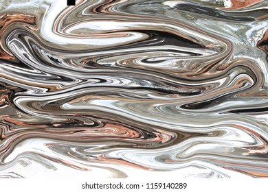 Digital grey abstract background with liquify flow. Liquid and wave background.