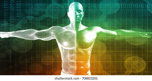 Digital Healthcare Assistance and Diagnosis as Concept 3D Illustration Render