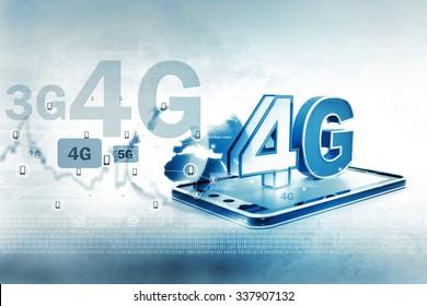 Digital illustration of 4g tablet pc