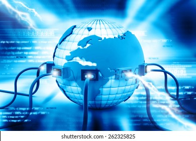 Digital illustration of Global internet connection