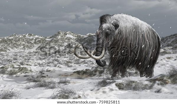 Digital illustration of a mammoth