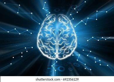 digital illustration of presentation of human brain