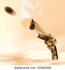 Digital Illustration of a Revolver