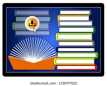 Digital learning with eBooks. Download of educational books from online library