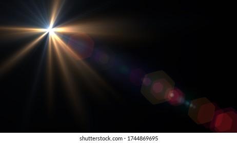Digitale Linsenflare, abstrakte Overlays Hintergrund.Licht