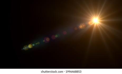 Flare, abstrakte Overlays, Hintergrund der digitalen Linse.Licht