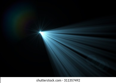 digital lens flare in black bacground horizontal frame