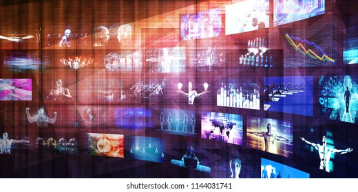 Digital Marketing and Internet Media Technology Platform 3D Render