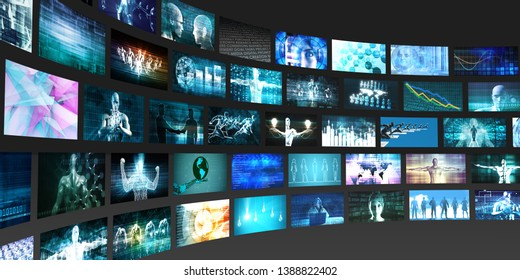 Digital Multimedia Broadcasting Technology as Media Concept 3D Render