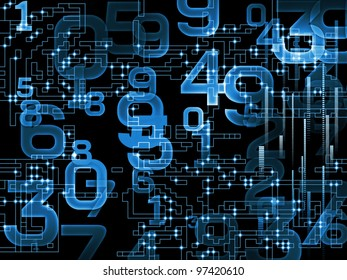 Digital network background suitable as a backdrop for projects on technology, networks, computing and digital communications