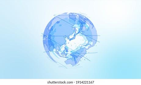 Digital Network Image Background In Light Blue