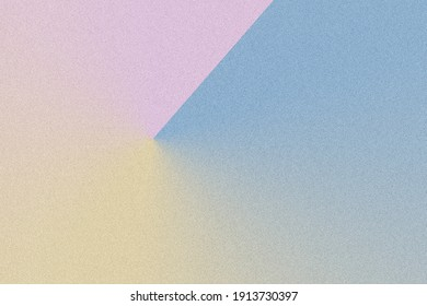 Digital noise gradient. Nostalgia, vintage, retro 70s, 80s style. Abstract lo-fi background. Retro wave, synthwave. Wall, wallpaper, template, print. Minimal, minimalist. Blue, pink, yellow colors