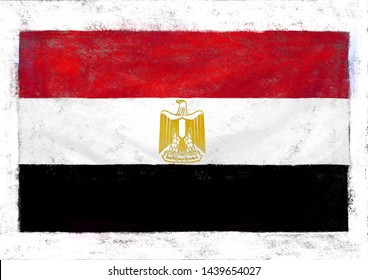 a digital painting of Egypt national flag