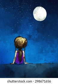 Lonely Child Cartoon Images Stock Photos Vectors Shutterstock