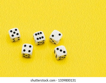 Digital painting from photo of dice on yellow background