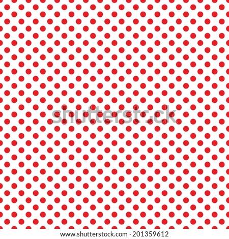 Digital Paper Scrapbook Red White Polka Stock Illustration 201359612
