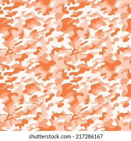 Digital Paper for Scrapbooking Light Orange Colorful Camouflage seamless