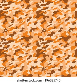 Digital Paper for Scrapbooking Orange Colorful Camouflage seamless