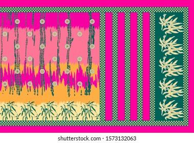 Digital printed woman wear design pattern background illustration