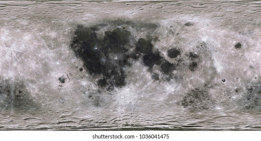 Digital shot. Moon surface. Aerial expanded view. 3D rendering