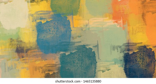 Digital sketch on colorful wall. 2d illustration. Texture backdrop painting. Creative chaos structure element.