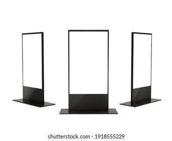 Digital stand signage lightbox. 3d illustration.