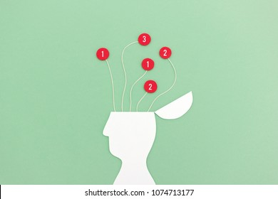 Digital stress and mental load - Image to visualize the influence of distraction on the brain from mobile notification alerts