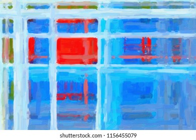 Digital structure of painting. abstract design background, lines of oil paint