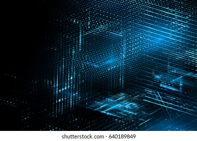 Digital technology abstract background. 3d illustration.