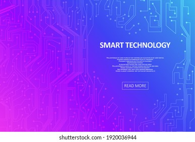 Digital technology background. Abstract tech representation. Colorful  graphic concept for your design