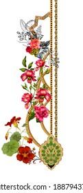 digital textile design and flower pattren