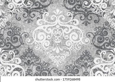 Digital tiles design.  3D render Colorful ceramic wall tiles decoration. Digital tiles design. Vintage tiles intricate details. Abstract background