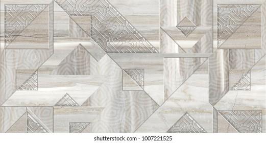 Digital tiles design. Colorful ceramic wall tiles decoration. Part 2