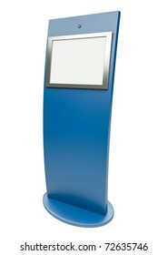 Digital touch screen terminal. 3D render.
