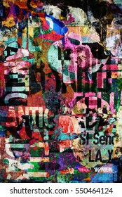 Digital urban collage background or typography paper texture