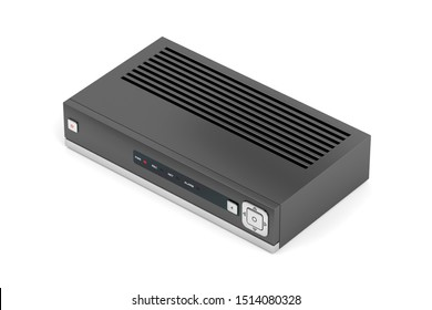Digital video recorder or iptv receiver on white background, 3D illustration
